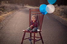 Load image into Gallery viewer, Birthday boy on a red chair
