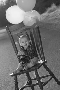 Birthday Chair with Coke Bottle - Tracy McCrackin Photography