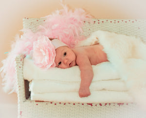 Baby Girl on Bench - Tracy McCrackin Photography