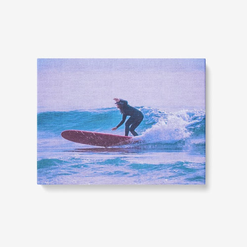 Just Surf - 1 Piece Canvas Wall Art - Framed Ready to Hang 24