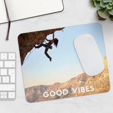 Load image into Gallery viewer, Rock Climbing Good Vibes Inspirational Mousepad - Tracy McCrackin Photography