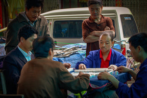 Chinese Men Playing Game of Mahjong - Tracy McCrackin Photography
