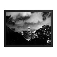 Load image into Gallery viewer, Hong Kong Cityscape Framed poster (BW) - Tracy McCrackin Photography