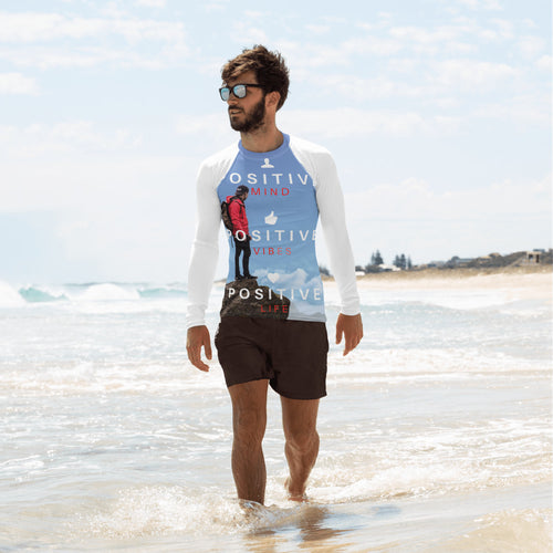 Positive Vibes Men's Rash Guard - Tracy McCrackin Photography