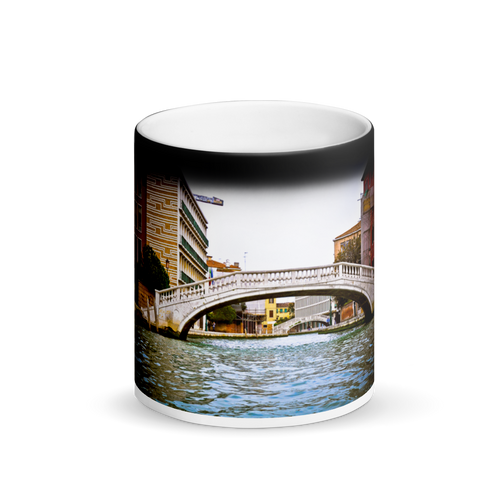 Bridges of Venice Black Magic Mug - Tracy McCrackin Photography