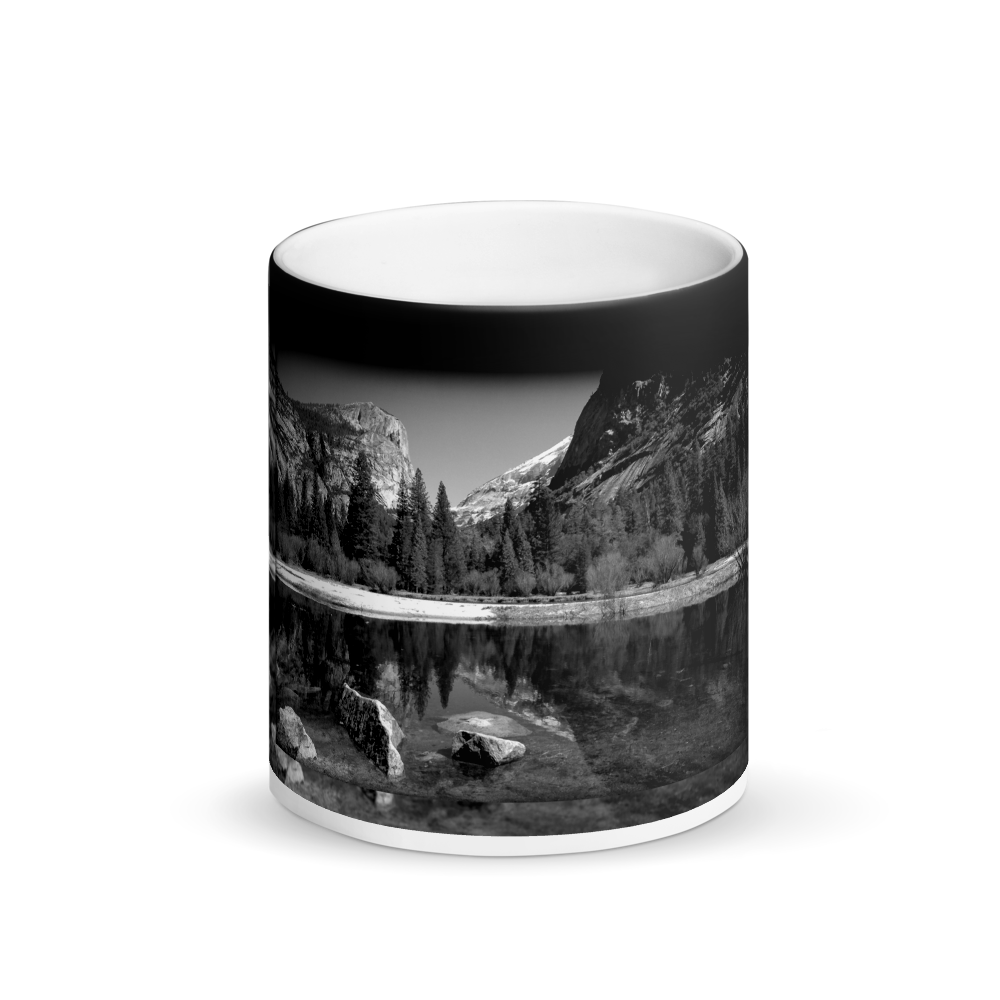 Mirror Lake Yosemite Black Magic Mug - Tracy McCrackin Photography