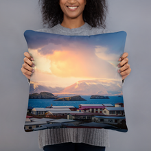 Load image into Gallery viewer, Arctic Storm over Iceland Pillows - Tracy McCrackin Photography