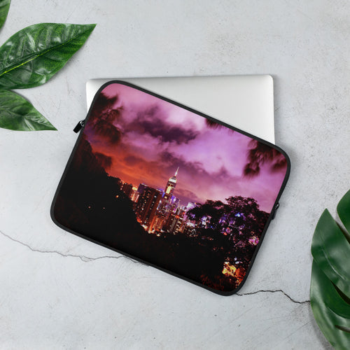 Hong Kong Nightscape Laptop Sleeve - Tracy McCrackin Photography