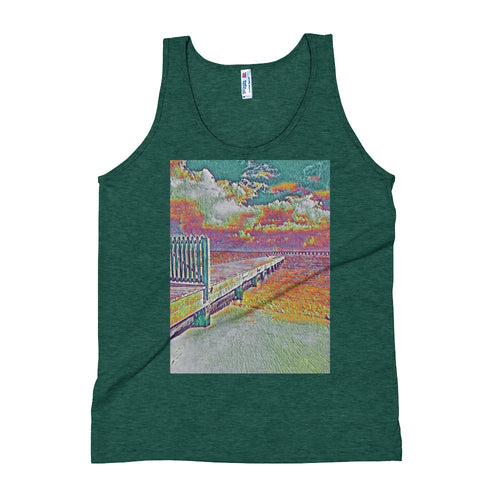 Peaceful Pier Unisex Tank Top - Tracy McCrackin Photography