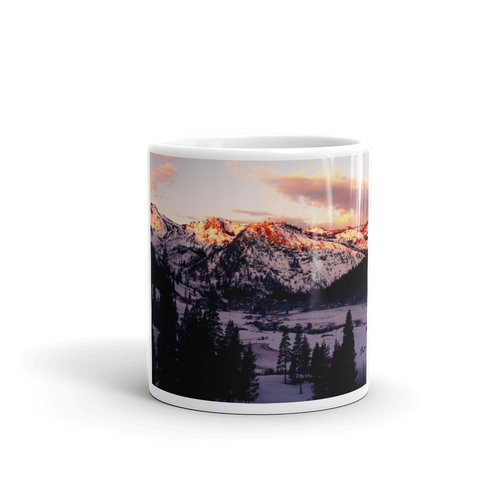 Squaw Creek Snowy Mountains Mug - Tracy McCrackin Photography