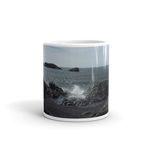 Crashing Waves of Iceland Coffee Mug - Tracy McCrackin Photography
