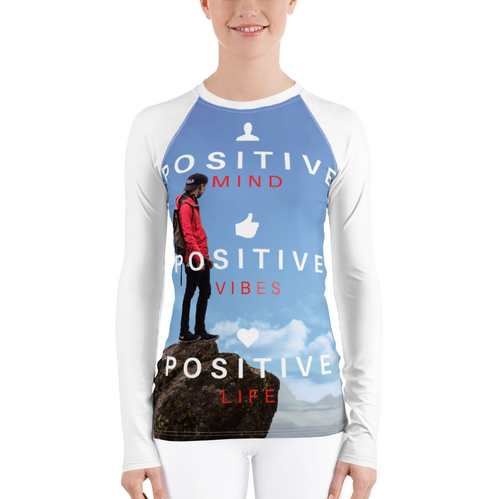 Positive Vibes Women's Rash Guard - Tracy McCrackin Photography