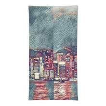 Load image into Gallery viewer, Painterly City Scape Face Mask/Neck Gaiter - Tracy McCrackin Photography