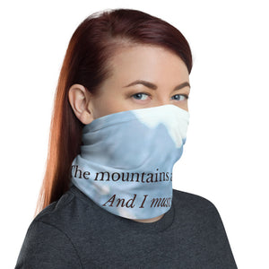 Mountains are Yearning Face Mask/Neck Gaiter - Tracy McCrackin Photography