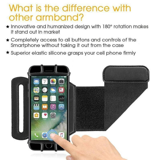 180 Degree Rotatable Running Wristband Phone Case,merchantvikings
