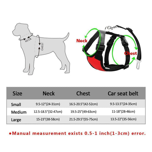 Dog Car Harness With Adjustable Straps,merchantvikings