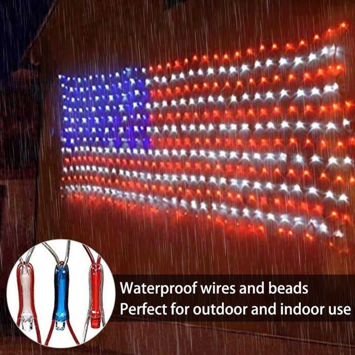 Large American FLAG 420 LED Outdoor Lamp