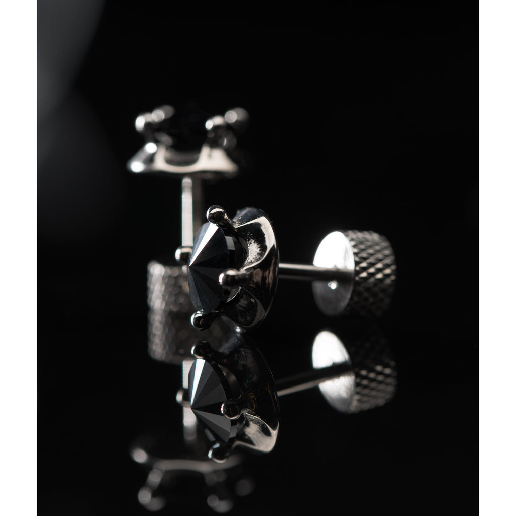 blackknifeapparel Crown Hematite Earring (Pre-order 2-3 weeks)