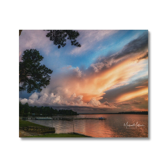 Sunset Storm on Lone Star Lake Canvas
