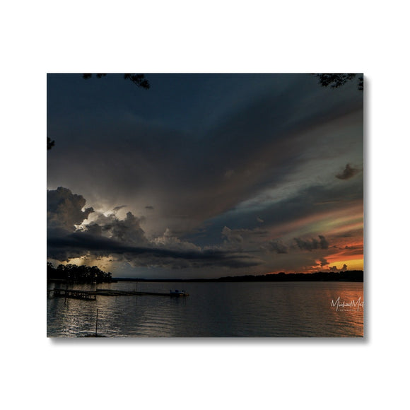 Thunderstorm at Sunset on Lone Star Lake Canvas