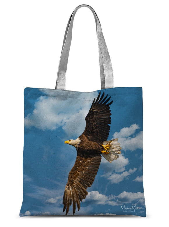 Bald Eagle With Lunch to Go Sublimation Tote Bag