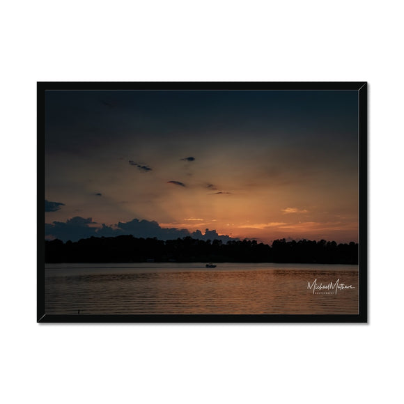 Surreal Light at Sunset Framed Print