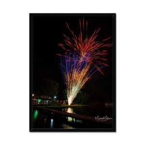 Fireworks on Lone Star Lake Framed Print