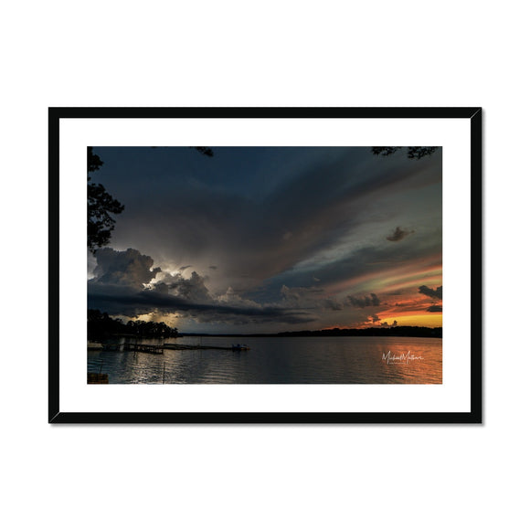 Thunderstorm at Sunset on Lone Star Lake Framed & Mounted Print