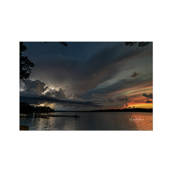 Thunderstorm at Sunset on Lone Star Lake Fine Art Print