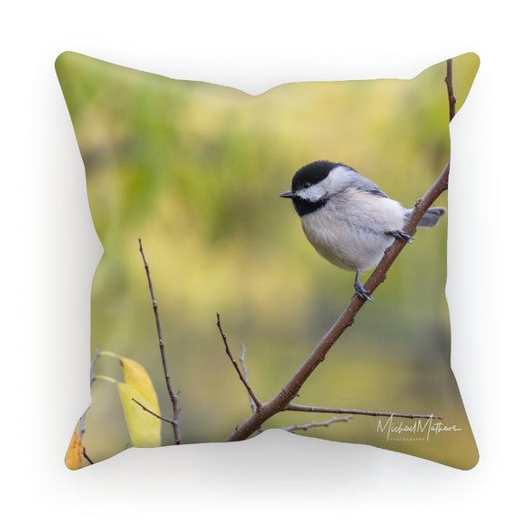 Chickadee on a Stick Cushion