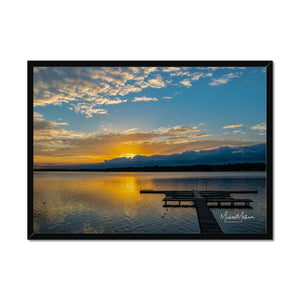 Golden Pastel Sunset Framed Print