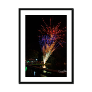 Fireworks on Lone Star Lake Framed & Mounted Print