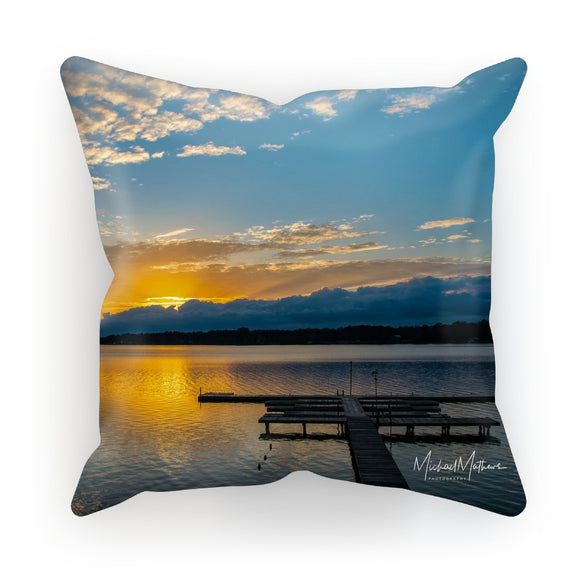 Golden Pastel Sunset Cushion