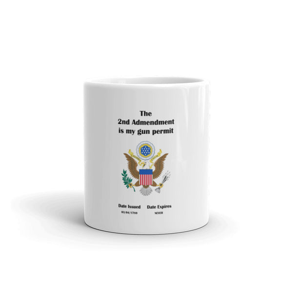 The 2nd Amendment is MY Gun Permit Mug / Coffee Cup