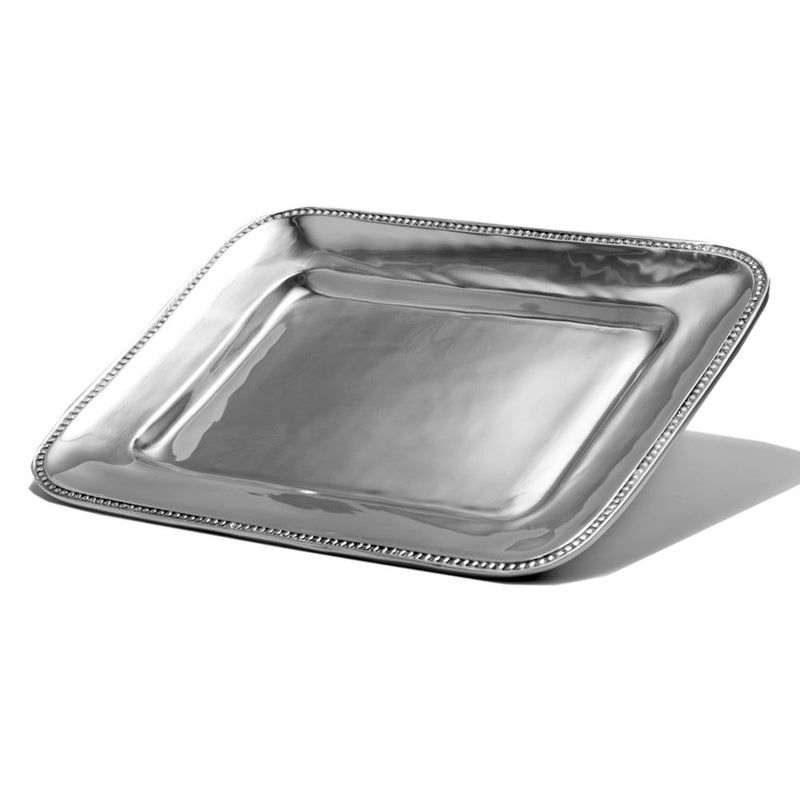 LG RECTANGLE BEADED EDGE TRAY - Lily Fields Home