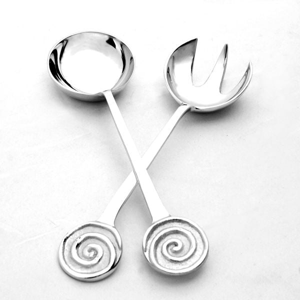 SWIRL SALAD SERVERS - Lily Fields Home