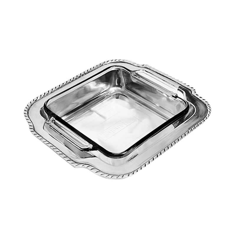 SQUARE CUT OUT HANDLE CASSEROLE HOLDER - Lily Fields Home