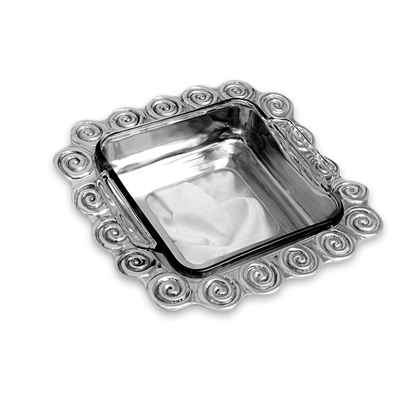 LG SQUARE SWIRL CASSEROLE HOLDER - Lily Fields Home