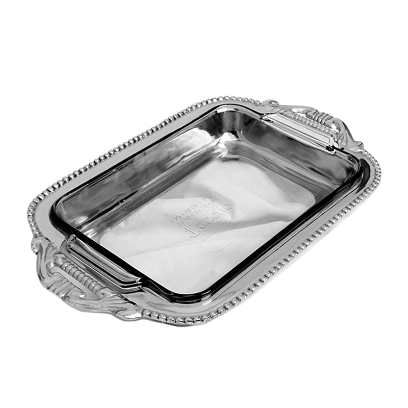 RECTANGLE ORNATE W/ BEAD CASSEROLE HOLDER - Lily Fields Home