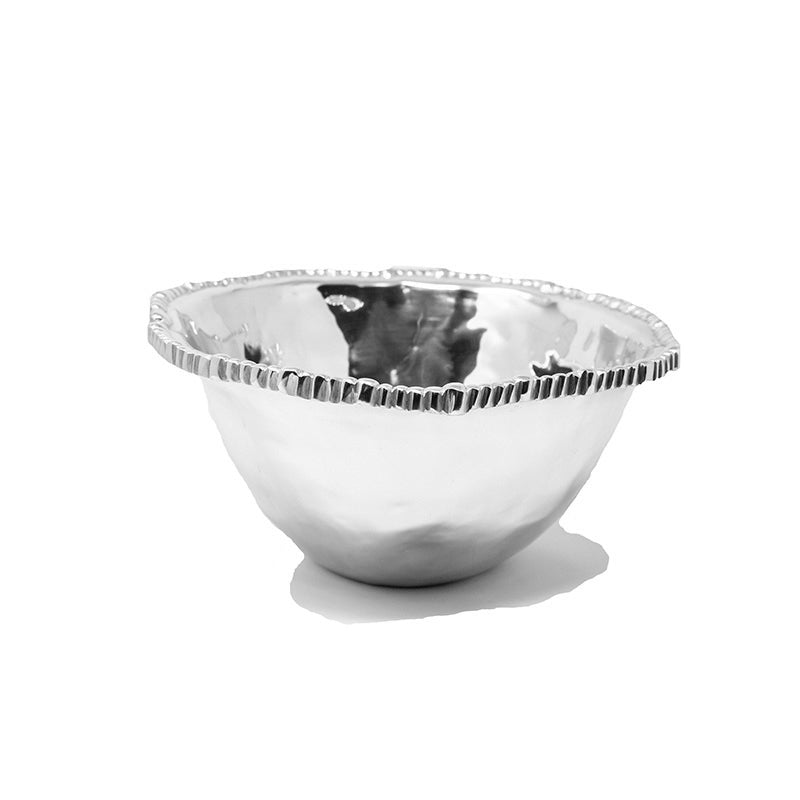 LG SOFT HAMMERED BEADED BOWL - Lily Fields Home