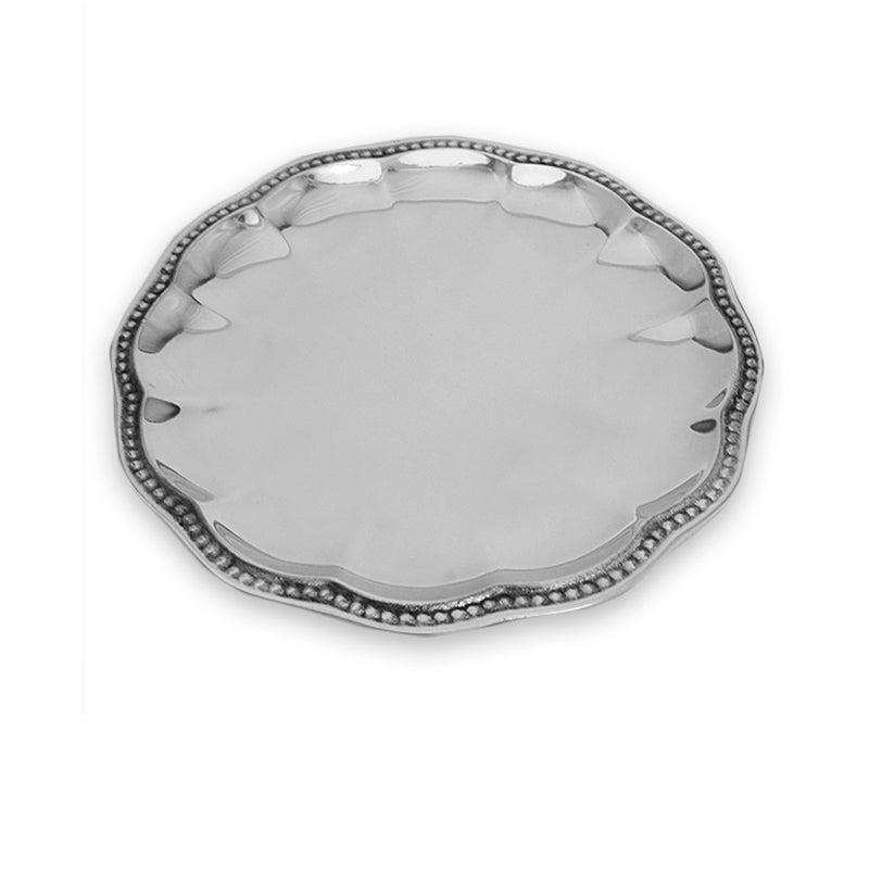 LG FLUTED BEADED EDGE PLATE - Lily Fields Home