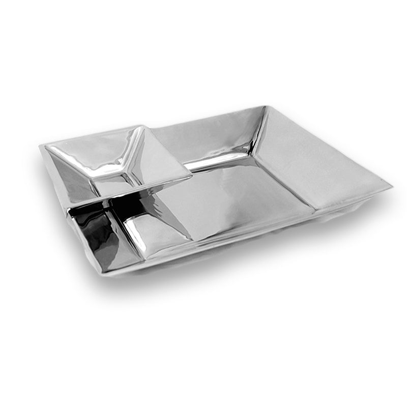 RECTANGLE MODERN TRAY W/ FLOATING DIP BOWL - Lily Fields Home