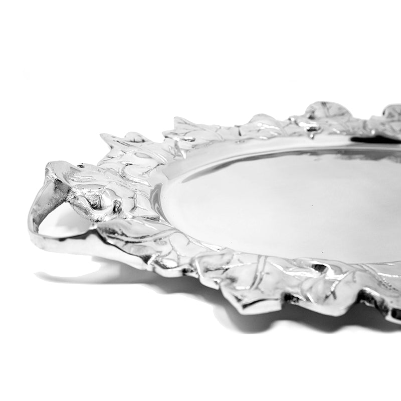 OVAL HARVEST LEAF TRAY W/ HANDLES - Lily Fields Home