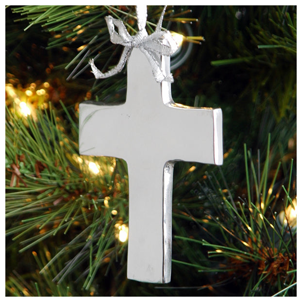 SMOOTH CROSS ORNAMENT - Lily Fields Home