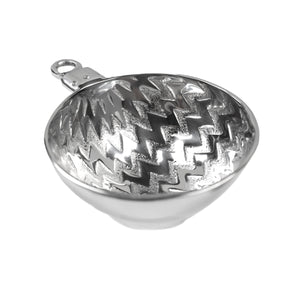 CHRISTMAS ORNAMENT DISH - CHEVRON PATTERN