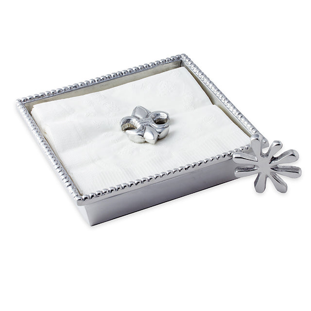 COCKTAIL NAPKIN HOLDER W/ 2 WEIGHTS - Lily Fields Home