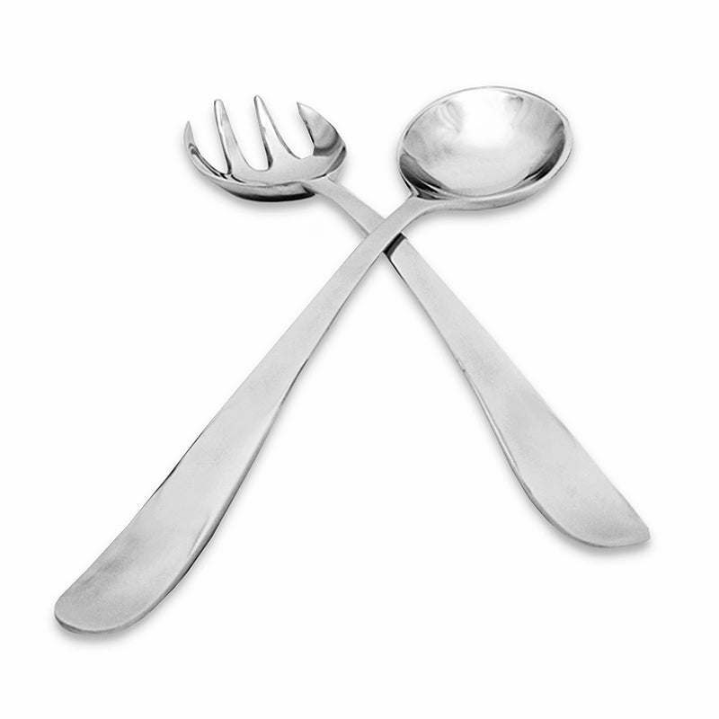 CURVED SMOOTH SALAD SERVERS - Lily Fields Home