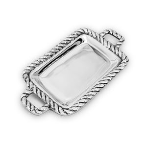 SM ROPE TRAY W/ HANDLES - Lily Fields Home