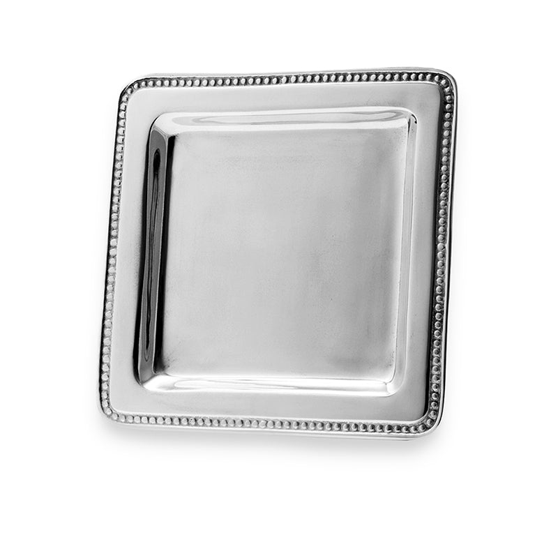 SQUARE BEADED EDAGE TRAY - Lily Fields Home