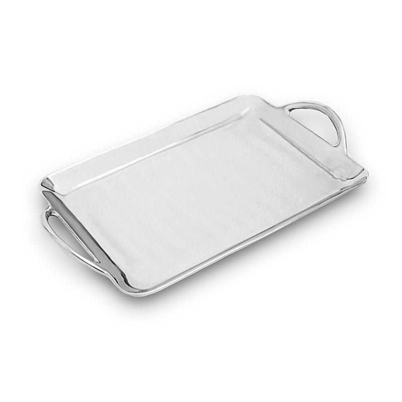 MD RECTANGLE SMOOTH TRAY W/ HANDLES - Lily Fields Home